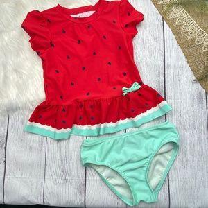 Circo Toddler Girl's Size 5T 2-Piece Watermelon Swimsuit Set
